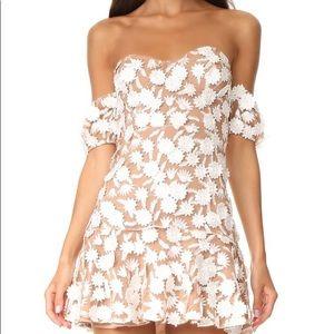 For love&lemons white daisy mini dress